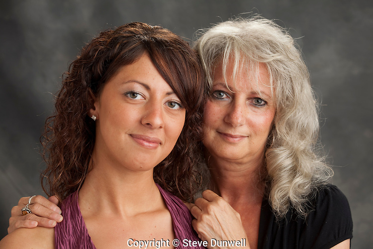 Noelle Pina and her mother, Joanne, for DPA, Octabank w/ diffuser, right