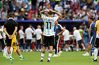 KAZAN - RUSIA, 30-06-2018: Angel DI MARIA jugador de Argentina luce decepcionado después del partido de octavos de final entre Francia y Argentina por la Copa Mundial de la FIFA Rusia 2018 jugado en el estadio Kazan Arena en Kazán, Rusia. / Angel DI MARIA player of Argentina looks disappointed after the match between France and Argentina of the round of 16 for the FIFA World Cup Russia 2018 played at Kazan Arena stadium in Kazan, Russia. Photo: VizzorImage / Julian Medina / Cont