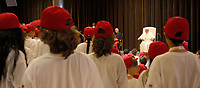 Pope Francis and Cardinal Piero Ravasi meet with participants at the Chidren's Train event at the Vatican on June 9, 2018. <br /> UPDATE IMAGES PRESS/Isabella Bonotto<br /> <br /> STRICTLY ONLY FOR EDITORIAL USE