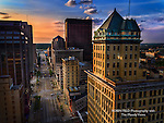 Photo of Dayton Ohio. City Center Building & Main St. view.
