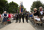 The Beaverton Police Honor Guard prepare to Post the Colors during Beaverton&rsquo;s Memorial Day service at Veterans Memorial Park.<br /> Photo bt Jaime Valdez