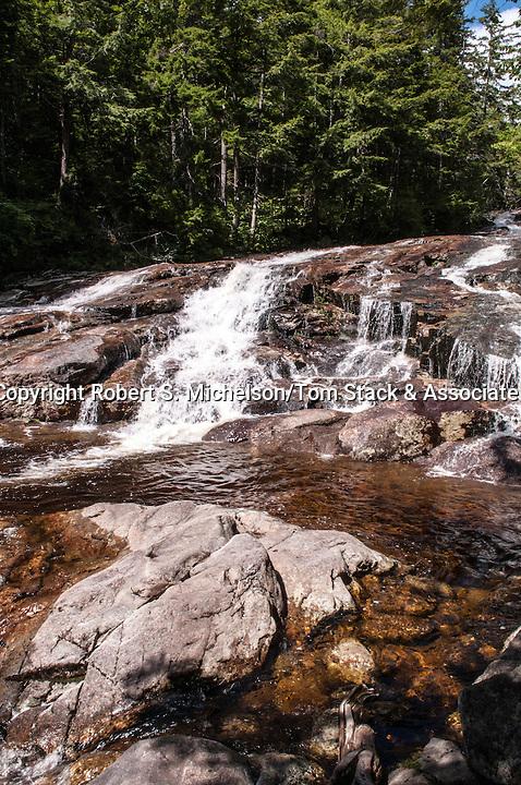 Rocky Glen Falls on the Pemigewasset River in Lincoln, New Hampshire, vertical