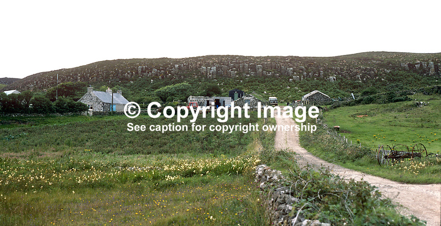 Smallholding, farm, Rathlin Island, Co Antrim, N Ireland, UK, 197809000241g..Copyright Image from Victor Patterson, 54 Dorchester Park, Belfast, United Kingdom, UK...For my Terms and Conditions of Use go to http://www.victorpatterson.com/Victor_Patterson/Terms_%26_Conditions.html