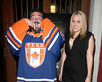 """LOS ANGELES - SEP 16:  Kevin Smith, Harley Quinn Smith at the """"Tusk"""" Los Angeles Premiere at Vista Theater on September 16, 2014 in Los Angeles, CA"""