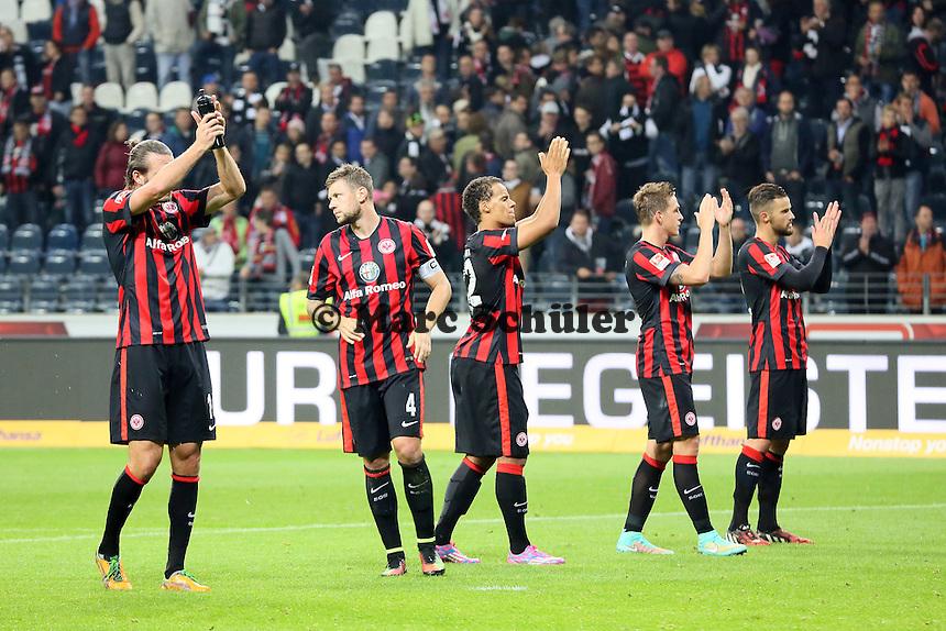 Eintracht Frankfurt bedankt sich bei den Fans - Eintracht Frankfurt vs. 1. FSV Mainz 05, Commerzbank Arena