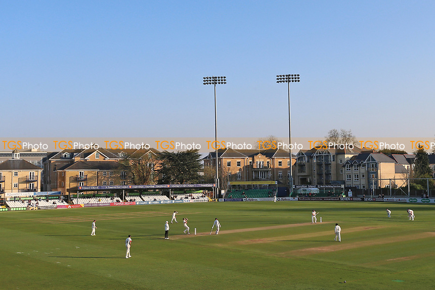 General view late in the day during Essex CCC vs Lancashire CCC, Specsavers County Championship Division 1 Cricket at The Cloudfm County Ground on 7th April 2017