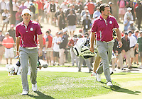 29 SEP 12 Rory McIlroy and Graeme McDowell during Saturdays foresome matches  at The 39th Ryder Cup at The Medinah Country Club in Medinah, Illinois.