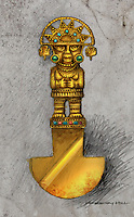 An antique knife from the Aztec's, used to cut the hearts out of sacrificial victims.