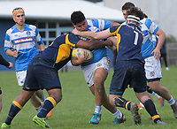 Action from the Wellington Premier Two College Rugby match between Upper Hutt College 1st XV and St Patrick's College Silverstream at Upper Hutt College in Upper Hutt in Wellington, New Zealand on Saturday, 29 June 2019. Photo: Dave Lintott / lintottphoto.co.nz