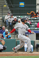 Salem Red Sox infielder Reed Gragnani #20 at bat during a game against the Myrtle Beach Pelicans at Ticketreturn.com Field at Pelicans Ballpark on April 6, 2014 in Myrtle Beach, South Carolina. Salem defeated Myrtle Beach 3-0. (Robert Gurganus/Four Seam Images)