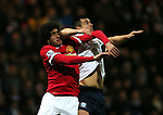 Marouane Fellaini of Manchester United is elbowed in the face by Bailey Wright of Preston North End - FA Cup Fifth Round - Preston North End  vs Manchester Utd  - Deepdale Stadium - Preston - England - 16th February 2015 - Picture Simon Bellis/Sportimage