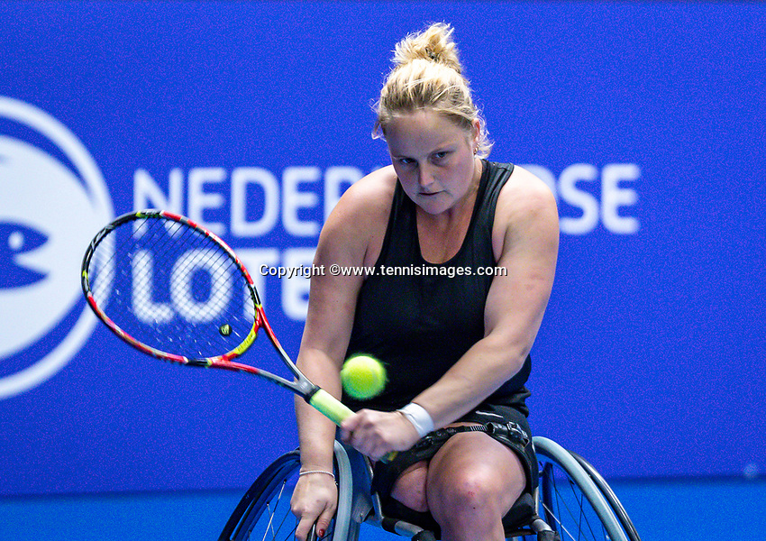 Alphen aan den Rijn, Netherlands, December 13, 2018, Tennispark Nieuwe Sloot, Ned. Loterij NK Tennis, Wheelchair, Aniek van Koot (NED)<br /> Photo: Tennisimages/Henk Koster