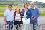 Michael Ryan, Mairead Ryan, Hannah Sexton and Liam Sexton enjoying the Listowel Races on Sunday
