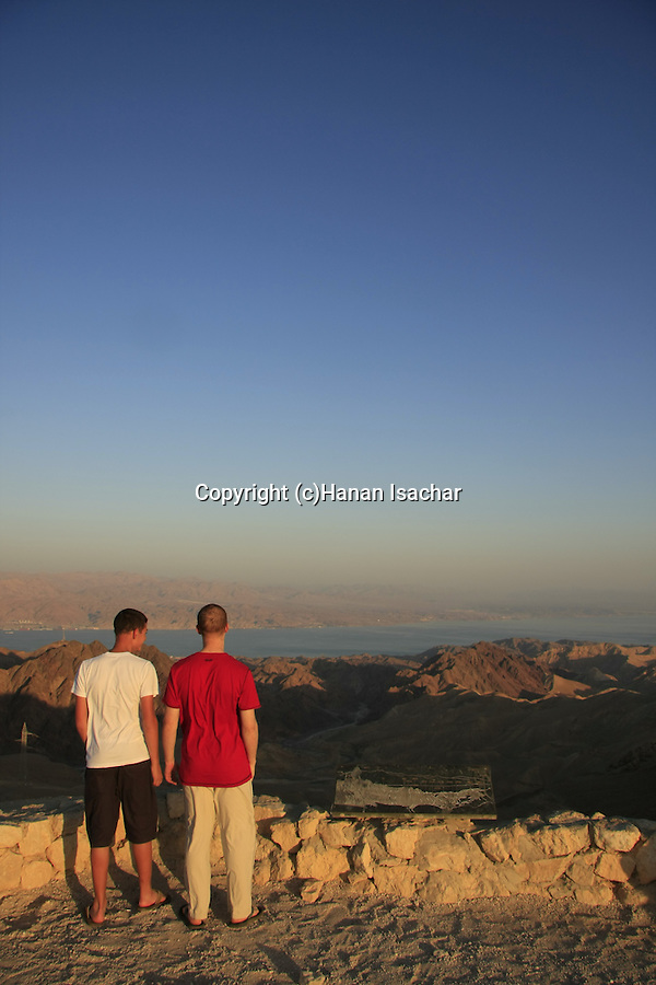 Israel, Eilat Mountains, a view from Mount Yoash