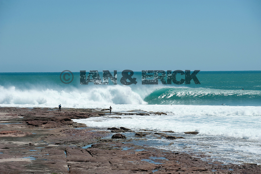 Line up of Jake Pt in Kalbarri, Western Australia.