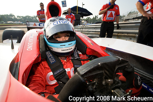 20 July 2008: Milka Duno at the Honda Indy 200 IndyCar race at the Mid-Ohio Sports Car Course, Lexington, Ohio, USA.