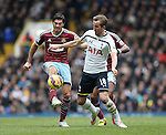 Tottenham's Harry Kane tussles with West Ham's James Tomkins<br /> <br /> Barclays Premier League - Tottenham Hotspur  vs West Ham  - White Hart Lane - England - 22nd February 2015 - Picture David Klein/Sportimage