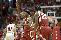 NWA Democrat-Gazette/CHARLIE KAIJO Arkansas Razorbacks forward Adrio Bailey (2) gestures during the first half of the NCAA National Invitation Tournament, Saturday, March 23, 2019 at the Simon Skjodt Assembly Hall at the University of Indiana in Bloomington, Ind. The Arkansas Razorbacks fell to the Indiana Hoosiers 63-60.