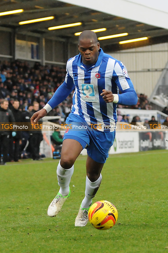 Marlon Harewood of Hartlepool United - Hartlepool United vs Newport County - Sky Bet League Two Football at Victoria Park, Hartlepool, County Durham - 15/02/14 - MANDATORY CREDIT: Steven White/TGSPHOTO - Self billing applies where appropriate - 0845 094 6026 - contact@tgsphoto.co.uk - NO UNPAID USE
