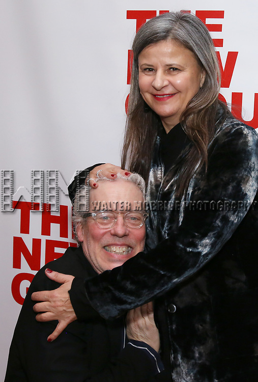"Terrence Mann and Tracey Ullman attends the Off-Broadway Opening Night Premiere of  ""Jerry Springer-The Opera"" on February 22, 2018 at the Green Fig Urban Eatery in New York City."
