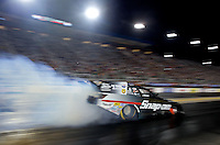 Sep 13, 2013; Charlotte, NC, USA; NHRA funny car driver Cruz Pedregon during qualifying for the Carolina Nationals at zMax Dragway. Mandatory Credit: Mark J. Rebilas-