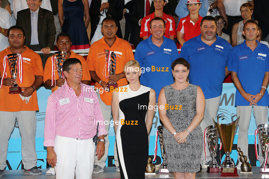 Princess Charlene attends the final of the 2013 Masters petanque tournament in Monaco. September 5, 2013.