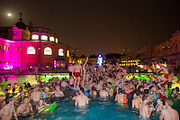 Night bath parties in Budapest