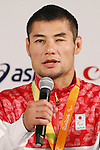 Satoshi Fujimoto (JPN),<br /> SEPTEMBER 9, 2016 : <br /> Medalist Satoshi Fujimoto, Makoto Hirose and Takuya Tsugawa of Japan during the Press Conference for the Rio 2016 Paralympic Games at the Japan House in Rio de Janeiro, Brazil.<br /> (Photo by Shingo Ito/AFLO)