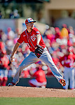 29 February 2020: Washington Nationals pitcher Erick Fedde on the mound during a Spring Training game against the St. Louis Cardinals at Roger Dean Stadium in Jupiter, Florida. The Cardinals defeated the Nationals 6-3 in Grapefruit League play. Mandatory Credit: Ed Wolfstein Photo *** RAW (NEF) Image File Available ***