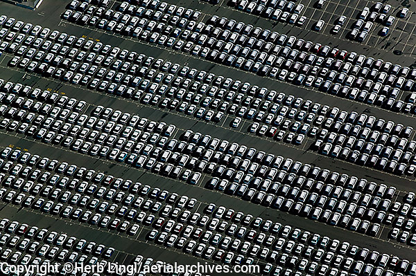 aerial photography cars Port of Richmond, Contra Costa county California