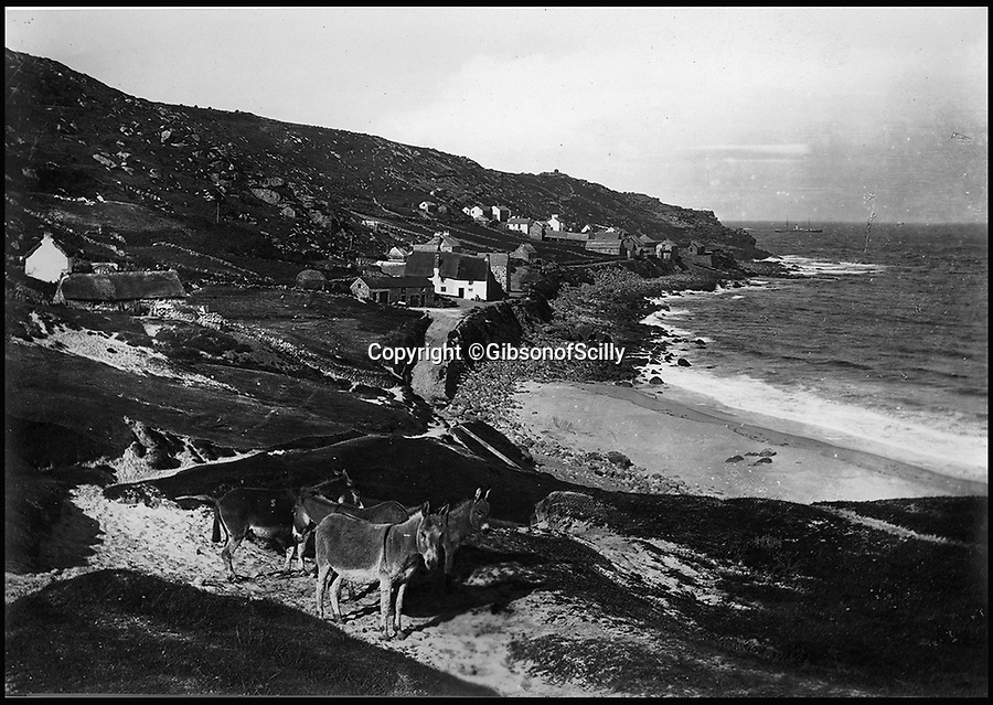 BNPS.co.uk (01202 558833)<br /> Pic: GibsonOfScilly/BNPS<br /> <br /> Remote Sennen Cove around 1900.<br /> <br /> An archive of eye-opening photographs documenting the grim reality of Poldark's Cornwall has emerged for sale for £25,000.<br /> <br /> More than 1,500 black and white images show the gritty lives lived by poverty-stricken families in late 19th and early 20th century Cornwall - around the same time that Winston Graham's famous Poldark novels were set.<br /> <br /> The collection reveals the lowly beginnings of towns like Rock, Fowey, Newquay and St Ives long before they became picture-postcard tourist hotspots.<br /> <br /> Images show young filth-covered children playing barefoot in squalid streets, impoverished families standing around outside the local tax office, and weather-beaten fishwives tending to the day's catch.<br /> <br /> The Cornish archive, comprising 1,200 original photographic prints and 300 glass negative plates, is tipped to fetch £25,000 when it goes under the hammer as one lot at Penzance Auction House.
