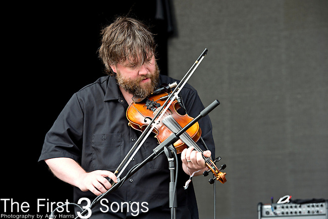 Ryan Young of Trampled by Turtles performs during the Forecastle Music Festival at Waterfront Park in Louisville, Kentucky.