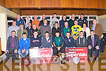 MEDAL PRESENTION: The County Minor football and hurling  teams who were presented with their league winner's medals at Austin Stack park on Friday.