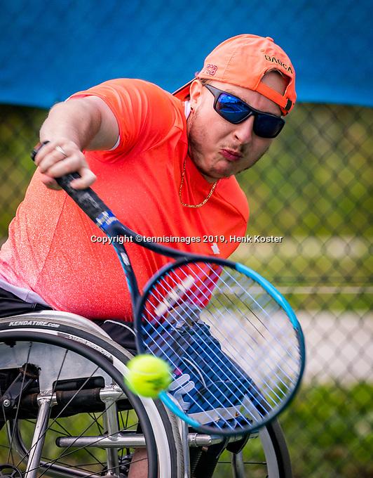 Amstelveen, Netherlands, 19 Augustus, 2020, National Tennis Center, NTC, NKR, National  Wheelchair Tennis Championships, Men's single: Mitchel Graauw (NED)<br /> Photo: Henk Koster/tennisimages.com