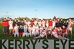 .COLLEGE CHAMPIONS: Pobal Scoil Chorcha Dhuibhne who defeated St Brendan's Killarney by 4-7 - 1-6 in the Cluiche Ceannais Coláiste Chiarraí replay of the O'Sullivan at Kerins O'Rahillys GAA grounds Starnd Road, Tralee on Wednesday Front l-r: Colm Ó Muiríhuile, Martin O Gormain, Colm O Beaglaioch, Cathal O Bambaire, Tadgh De Brún, cathal O Gairbhia, Shane Ó gairbhia, Shane O hUallacháin, Cathal Ó Lúing, Maitiú O Flathartha, Pádraig Dubháin (capt), Micheál O'Caomhanaigh, Daithi O Conchúir, Tomás Ó Sé agus Roideard ÓSé. Back l-r: Eana O Conchúir, Brian O Murchú, Seamus O Muircheartaigh, barry O'Suilleabháin, Brian O'Raóil, Conor O'Geanaí,Marc O Conchúir, Sean O Bambaire, Alan O Cinnéidí, Padraigh O Conchúir,Tomás O'Suilleabháin, Brian O Beaghaoich, Pól Breathnac, Aiden O Cinneidi, Caoimhín O'Beaglaoich, Aodán Mc Gearailt, Sean O'gairbhia, Cian O Murchú agus Conor O'Sulleadháin.