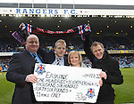 RSEA present a cheque for a squizillion pounds at half-time to Erskine