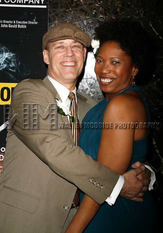 Kevin Geer & Saidah Arrika Ekulona attending the Opening Night for the Labyrinth Theater Company's World Premiere of a New Play UNCONDITIONAL at the Public Theatre with an after party at Colors Restaurant in New York City.<br />