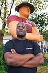 Sept. 22, 2012 - Bellmore, New York U.S. - TRAVANO BARRETT, Gunnery Sergeant, USMC Station Commander at RSS Hicksville, is at the Marine area of the Military Expo section of the 26th Annual Bellmore Family Street Festival. More people than the well over 120,000 who attended last year were expected, according to the Festival Coordinator.