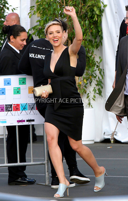 WWW.ACEPIXS.COM<br /> <br /> February 21 2015, Los Angeles CA<br /> <br /> Actress Scarlett Johansson arriving at the 2015 Film Independent Spirit Awards at Santa Monica Beach on February 21, 2015 in Santa Monica, California.<br /> <br /> <br /> Please byline: Nancy Rivera/ACE Pictures<br /> <br /> ACE Pictures, Inc.<br /> www.acepixs.com, Email: info@acepixs.com<br /> Tel: 646 769 0430