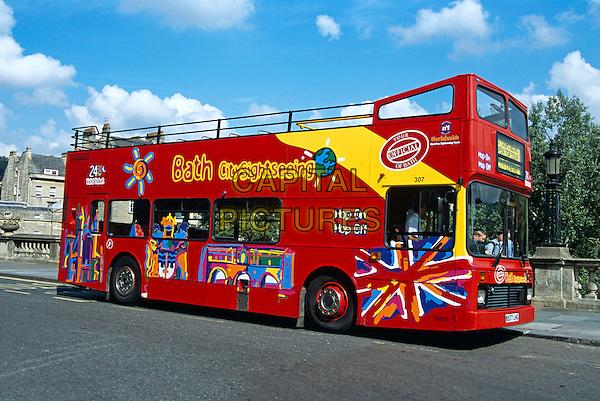 Tourists' bus, Bath, Somerset, England