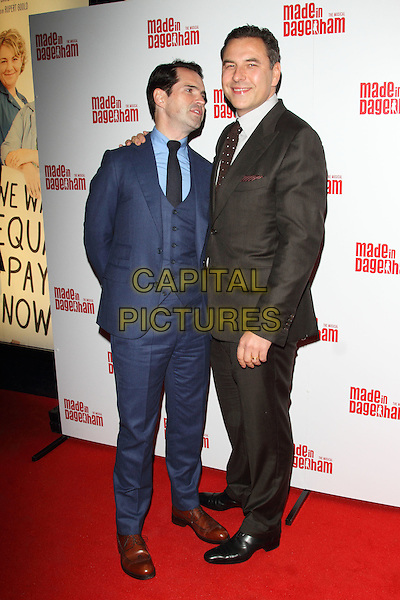 LONDON, ENGLAND - NOVEMBER 05: Jimmy Carr and David Walliams attends the 'Made In Dagenham' press night at the Adelphi Theatre on November 5, 2014 in London, England<br /> CAP/ROS<br /> &copy;Steve Ross/Capital Pictures