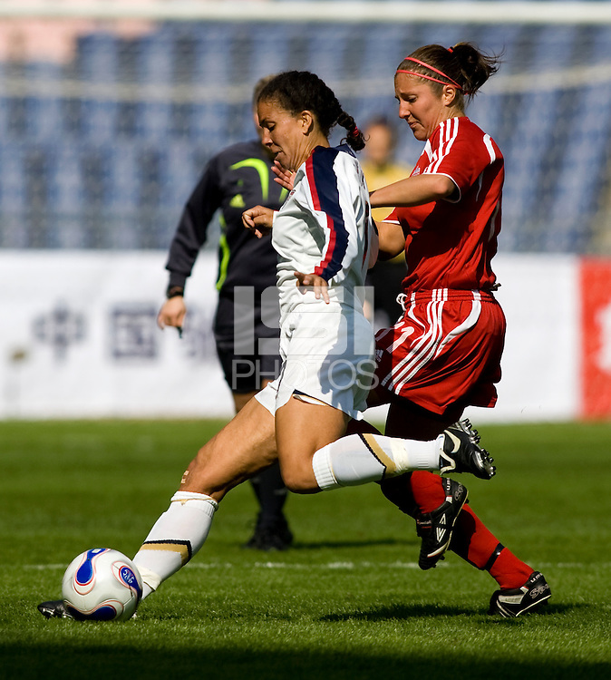 USA's Shannon Boxx. The U.S. defeated Canada, 4-0, during the Four Nations Tournament in Guangzhou, China on January 16, 2008.