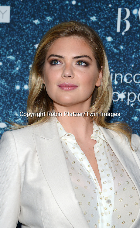 Kate Upton attends the Stella McCartney Honored by Lincoln Center Gala on November 13, 2014 at Alice Tully Hall in New York City, USA. She was given the Women's Leadership Award which was presented bythe LIncoln Center for the Performing Arts' Corporate Fund.<br /> <br /> photo by Robin Platzer/Twin Images<br />  <br /> phone number 212-935-0770