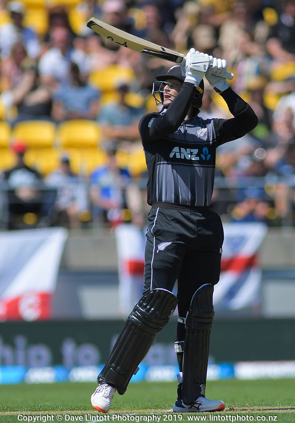 New Zealand's Martin Guptill. Twenty20 International cricket match between NZ Black Caps and England at Westpac Stadium in Wellington, New Zealand on Sunday, 3 November 2019. Photo: Dave Lintott / lintottphoto.co.nz