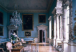 Kedleston Hall, Derbyshire, England, 1759 - 1765. The State Drawing Room with alabaster columns and pilasters.