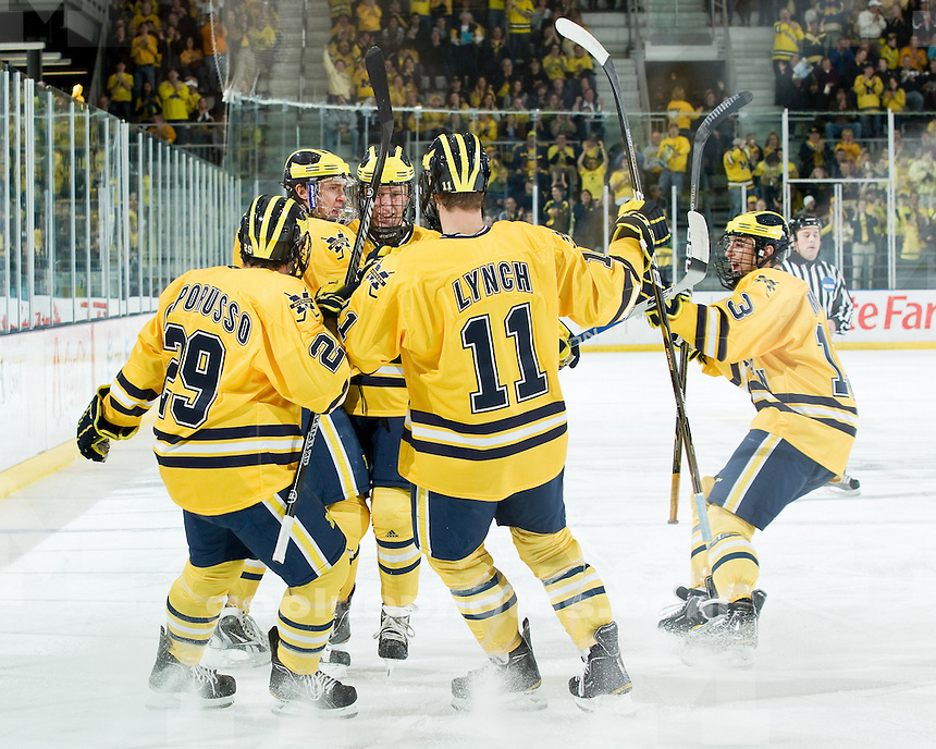 University of Michigan men's ice hockey 3-1 loss to Notre Dame at Yost Ice Arena in Ann Arbor, MI,  on November 12, 2010.