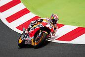 June 9th 2017, Circuit de Catalunya, Barcelona, Spain; Catalunya MotoGP; Friday Practice Session; Daniel Pedrosa of Repsol Honda Team ride on the bike in the turn 2
