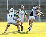 13/09/2014<br /> Ronan Lynch of Na Piarsaigh gets a shot away despite pressure from Stevie O'Reilly of Ballybrown in the Round 5 of the Limerick Senior Hurling Championship match which took place at the Gaelic Grounds, Limerick.<br /> Pic: Don Moloney/Press 22