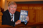 John Greig with the Rangers Hall of Fame book