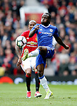 Victor Moses of Chelsea during the English Premier League match at Old Trafford Stadium, Manchester. Picture date: April 16th 2017. Pic credit should read: Simon Bellis/Sportimage